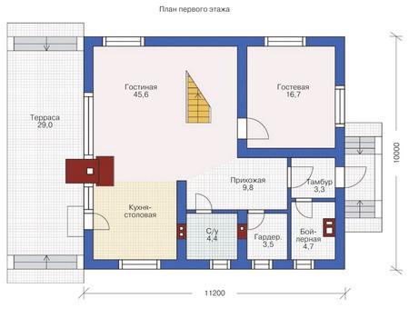 План первого этажа :: Проект 54-05