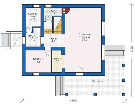 План первого этажа :: Проект 54-16