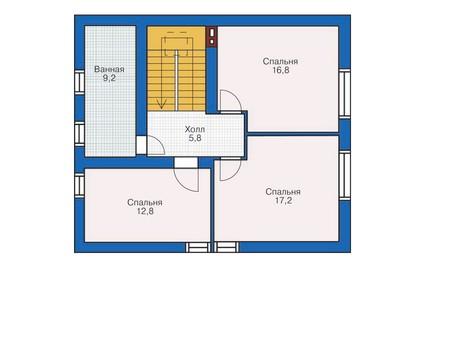 План мансардного этажа :: Проект 54-16