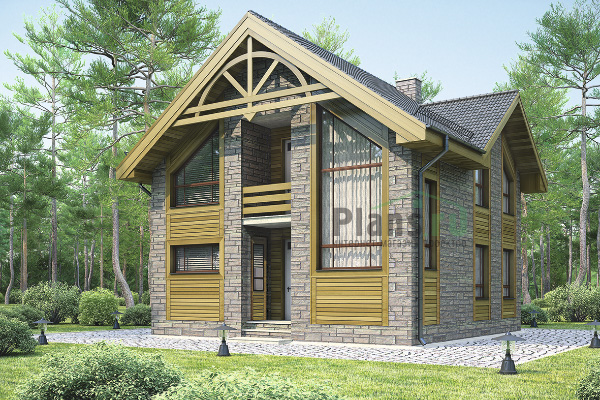 этажа :: Проект дома из газобетона 54-54