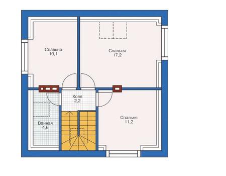 Планировка мансардного этажа :: Проект дома из газобетона 54-30