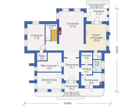 План первого этажа :: Проект 54-41