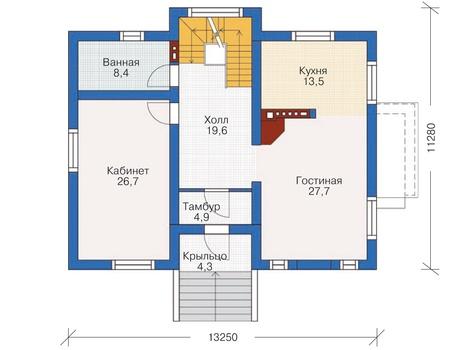 План первого этажа :: Проект 54-45