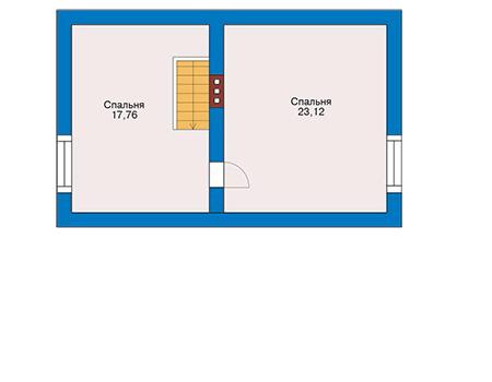 Планировка мансардного этажа :: Проект дома из газобетона 54-56