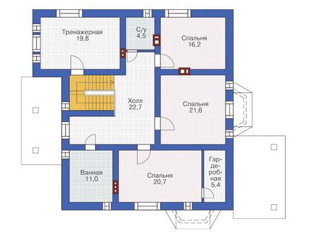 План мансардного этажа :: Проект 54-77