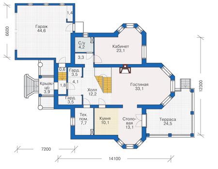 План первого этажа :: Проект 54-92