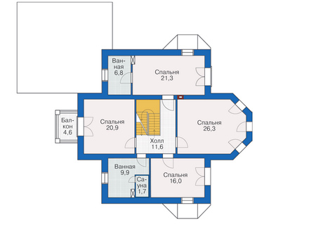 План второго этажа :: Проект 54-92