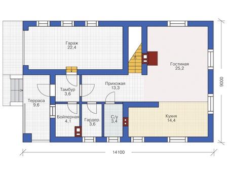 План первого этажа :: Проект 54-94