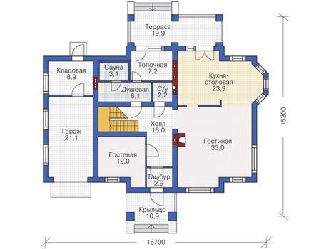 План первого этажа :: Проект 54-96