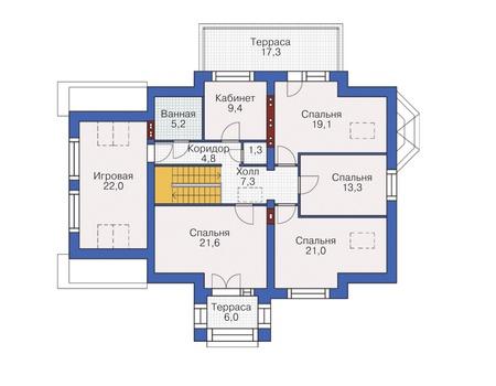 План мансардного этажа :: Проект 54-96