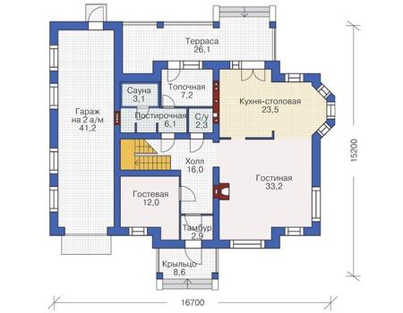 План первого этажа :: Проект 54-97