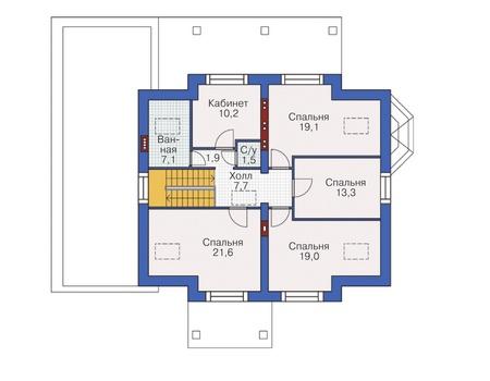 План мансардного этажа :: Проект 54-97