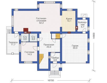 План первого этажа :: Проект 54-99