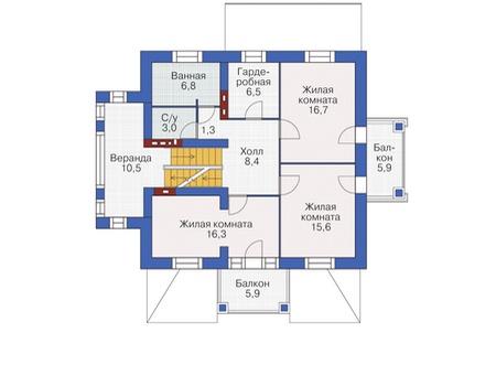 План второго этажа :: Проект 55-04