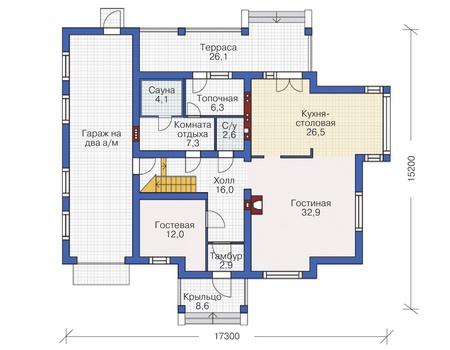 План первого этажа :: Проект 55-10