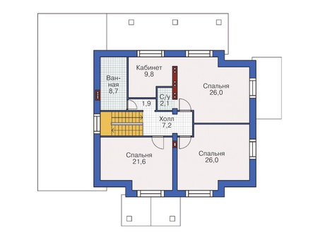 План второго этажа :: Проект 55-10
