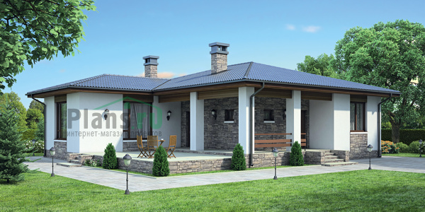 Проект дома из пеноблока 55-28 :: Интернет-магазин Plans ...