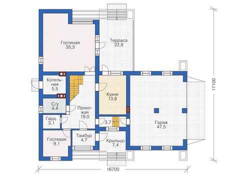 План первого этажа :: Проект 55-66