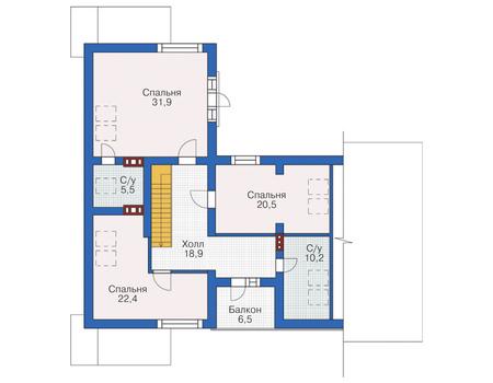 План мансардного этажа :: Проект 55-66