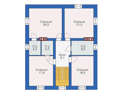 План второго этажа :: Проект 55-72