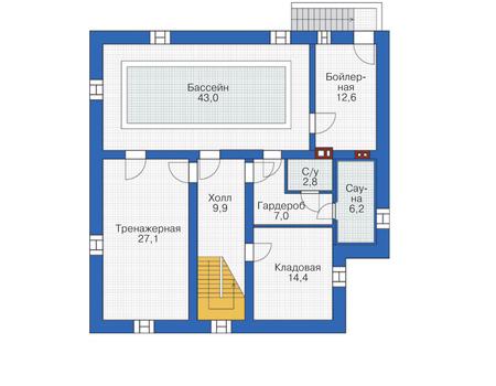 План цокольного этажа :: Проект 55-72