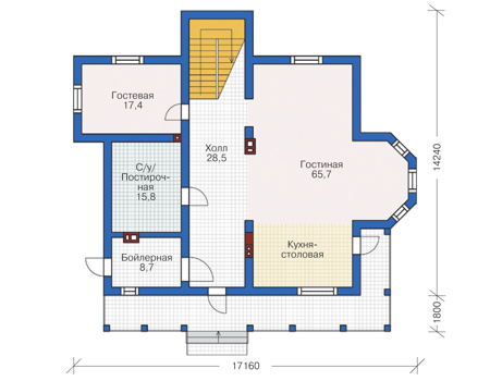 План первого этажа :: Проект 55-77
