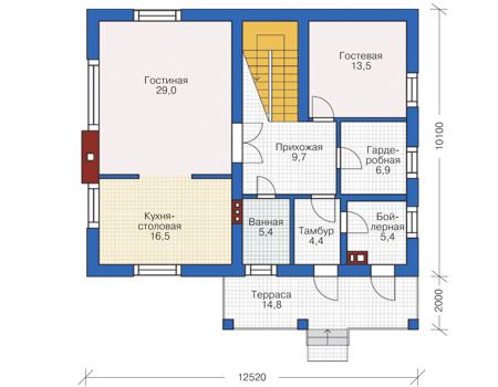План первого этажа :: Проект 55-81