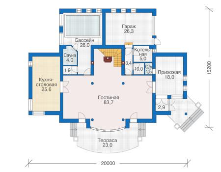 План первого этажа :: Проект 55-89
