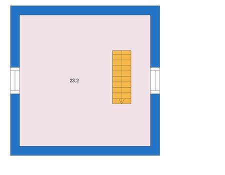 Планировка мансардного этажа :: Проект дома из газобетона 56-02