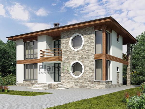 Фото проекта дома из газобетона 58-91