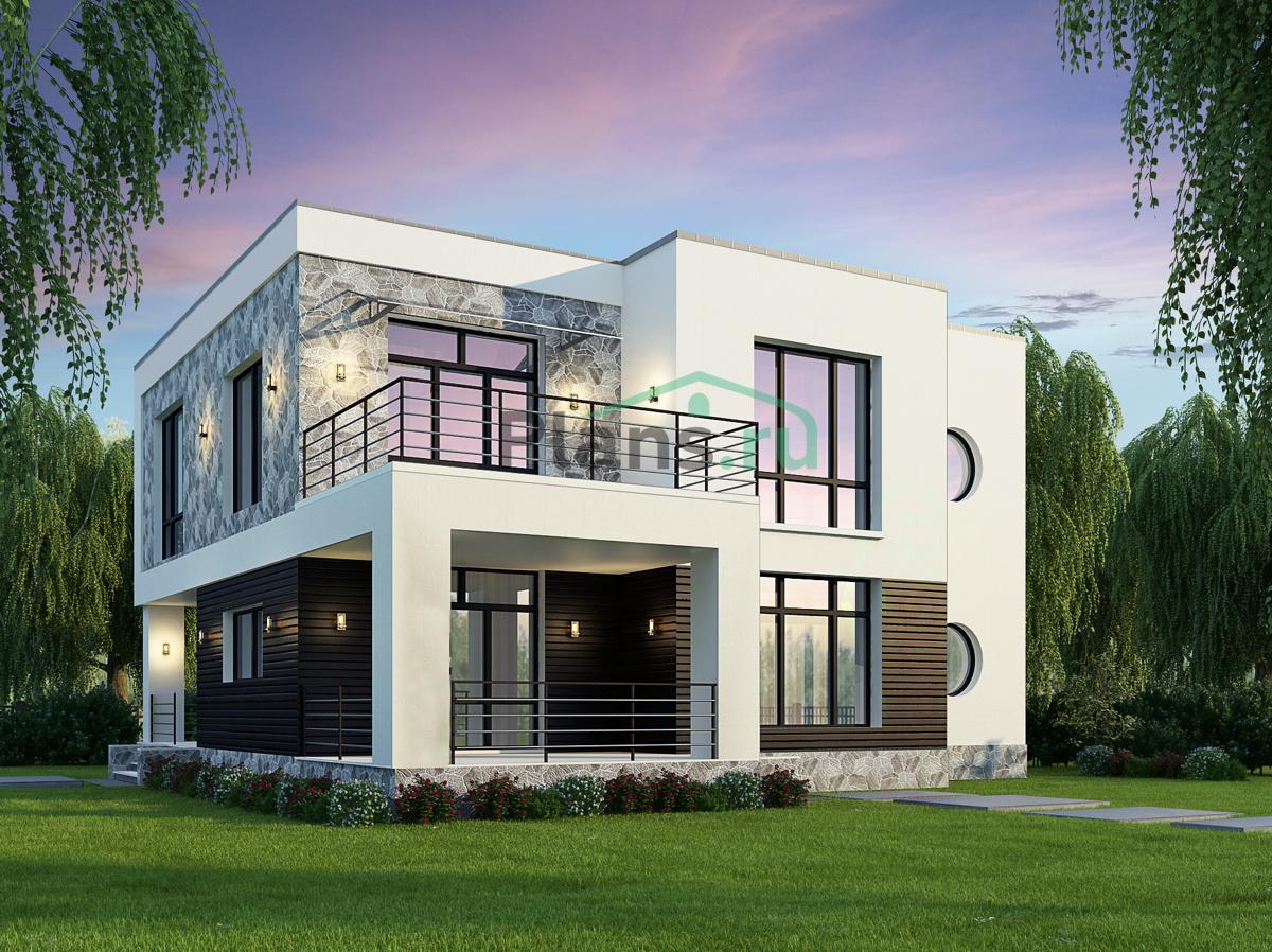 Дома с плоскими крышами фото