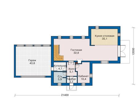 План первого этажа :: Проект 70-10