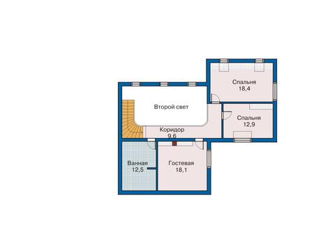 План мансардного этажа :: Проект 70-10
