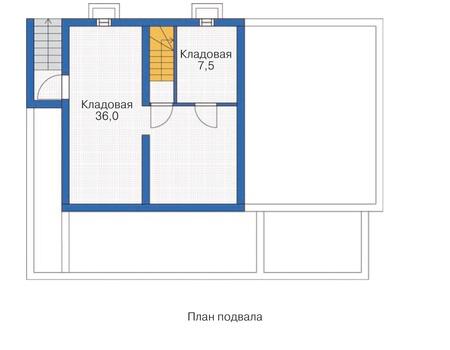 Планировка цокольного этажа :: Проект каркасного дома 70-20