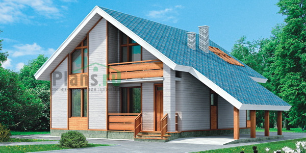 Проект кирпичного дома 37-94 зеркальный