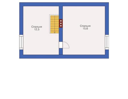 Планировка мансардного этажа :: Проект дома из кирпича 72-06