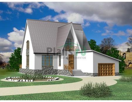 Фото проекта дома из газобетона 80-04