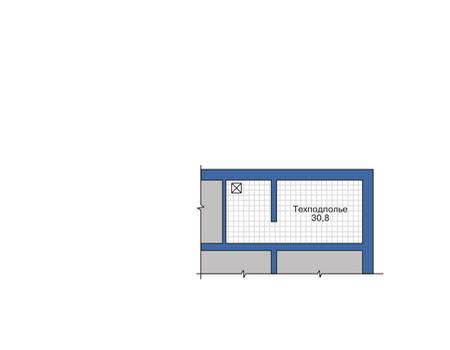 Планировка цокольного этажа :: Проект дома из комбинированных материалов 80-07