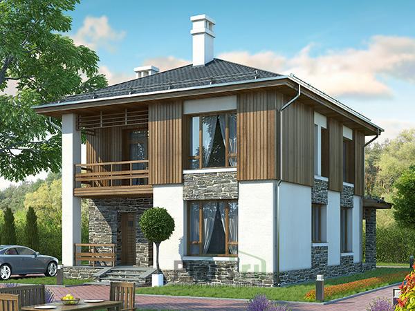 Дачный дом 6х7 Проект брусового дома с мансардой 6 на 7