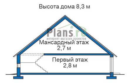 Высота этажей в проекте деревянного дома 10-46