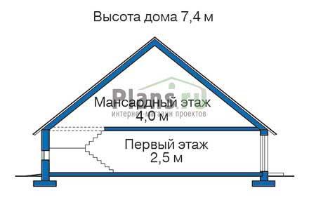 Высота этажей в проекте деревянного дома 10-85
