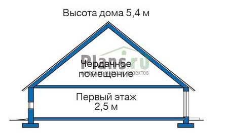 Высота этажей в проекте деревянного дома 11-19