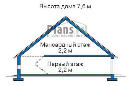 Высота этажей в проекте деревянного дома 11-24
