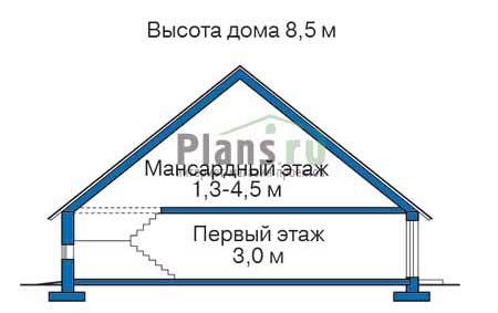 Высота этажей в проекте деревянного дома 11-52