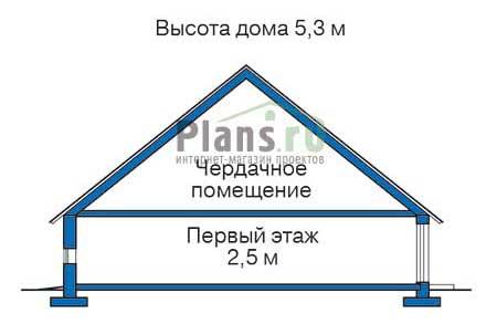 Высота этажей в проекте деревянного дома 11-82