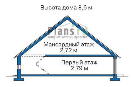 Высота этажей в проекте деревянного дома 11-91