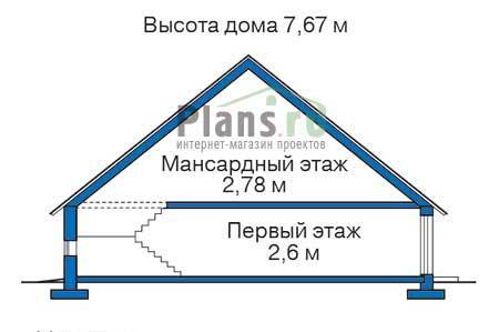Высота этажей в проекте деревянного дома 11-92