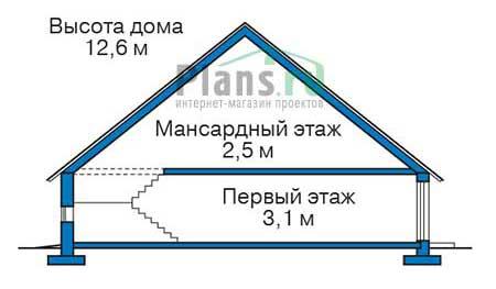 Высота этажей в проекте деревянного дома 12-43