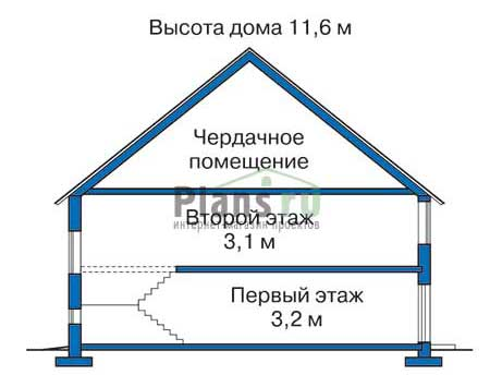 Высота этажей в проекте дома из кирпича 33-14