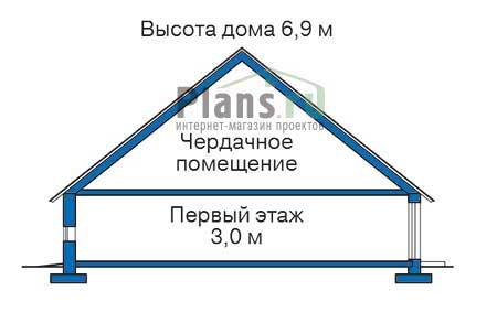Высота этажей в проекте дома из кирпича 33-18